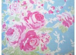 Stoff Rosen blau rosa