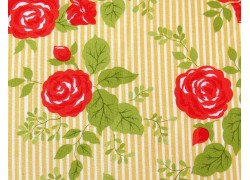 Stoff Rosen rot gelb