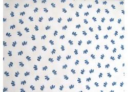 Stoff Blümchen blau weiß