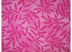 Stoff Blätter pink