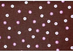 Fat Quarter rosa braun Punkte