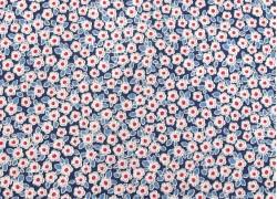 Tilda Stoffe Blumen Woodland Carol Blue Patchworkstoff