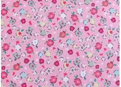 Blumenstoff rosa Moments Patchworkstoff