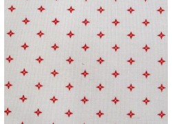 Designerstoff Country Christmas Sterne rot Patchworkstoff