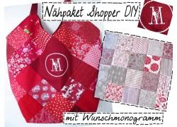 Nähpaket Shopper im Muster- und Materialmix