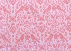 Quiltstoff Vögel Blumen rosa Splendor Patchworkstoff
