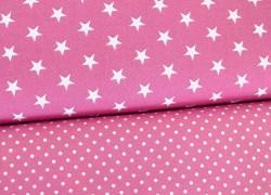 Stoffpaket rosa weiß