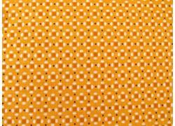 Patchworktoff Quadrate Punkte gelb Prim