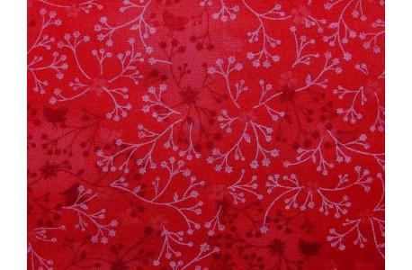 Stoff Blumen rot