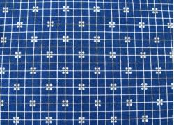 Designerstoff blau weiß Prim Patchworkstoff