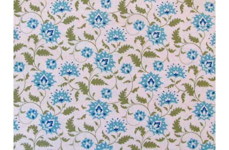 Stoff Blumen türkis