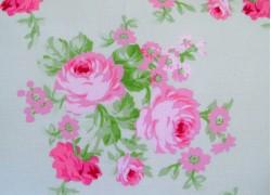 Patchworkstoff Rosenstoff grün pink Charlotte