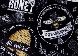 Bienenstoff Quiltstoff schwarz gelb Bee´s Life