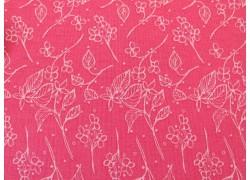 Patchworkstoff Blumenstoff rosa rot Abbie´s Garden