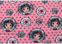Kinderstoffe Baumwolle Mädchen pink türkis