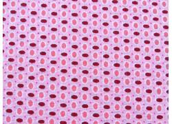 Baumwollstoff Ellipsen rosa pink weiß