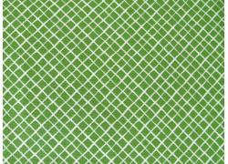 Baumwollstoff grün weiß kariert
