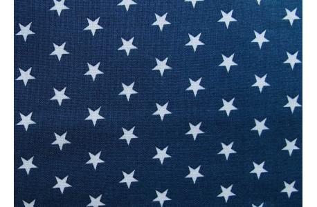 Stoff Sterne blau