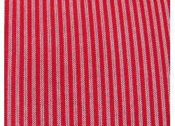 Webstoff Streifen rot beige Westfalenstoffe Bern