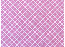 Baumwollstoff Karostoff rosa weiß