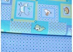 Stoffpaket Baumwolle blau Tiere 72046