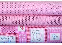 Stoffpaket rosa pink Kinderstoffe
