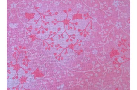 Baumwollstoff Streublümchenstoff rosa