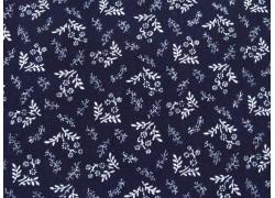 Blumenstoff American Gathering Patchworkstoff blau
