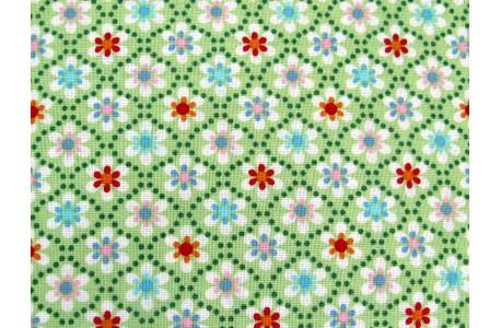 Baumwollstoff Miniblumen grün Julia