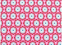 Blumenstoff Baumwollstoffe rosa blau Julia