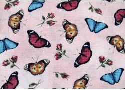 Patchworkstoff Schmetterlinge Butterfly Basics rosa blau