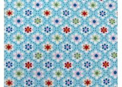 Baumwollstoff Blümchenstoff Julia blau