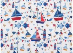 Kerstin Heß Baumwollstoff blau Segelboote