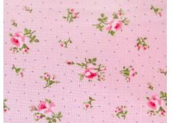 Rosenstoff Sophie rosa grün Patchworkstoff