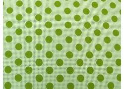 Tildastoff Punkte grün