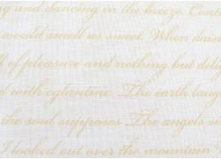 Patchworktoff Schrift Text Rose & Violets Garden Quiltstoff