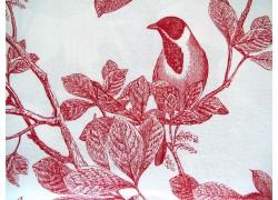 Quiltstoff Vögel rot weiß Classic Caskata