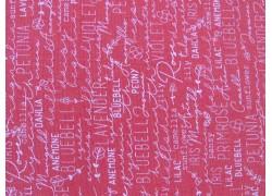 Patchworkstoff Schrift Text rosa Spring Chicken Quiltstoff