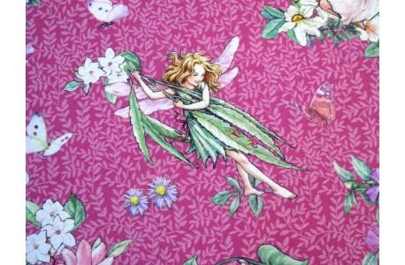 Patchworkstoff Elfenstoff The Dancing Flower Fairies pink