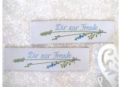 Web-Etiketten Aufnäher Dir zur Freude Daniela Drescher