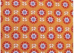 Blumenstoff orange Hello My Friend Patchworkstoff