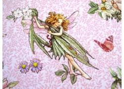 Patchworkstoff Elfenstoff The Dancing Flower Fairies rosa