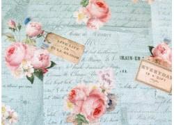 Patchworkstoff Rosenstoff Rose & Violets Garden