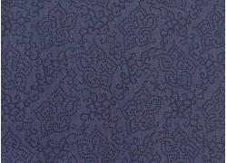 Blumenstoff Seeds of Glory dunkelblau Quiltstoff