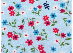Blumenstoff blau Favorite Flower Patchworkstoff