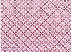 Designerstoff Ornamente Scarlet Stitches Patchworkstoff
