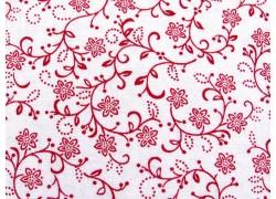 Blumenstoff rot Scarlet Stitches Quiltstoff