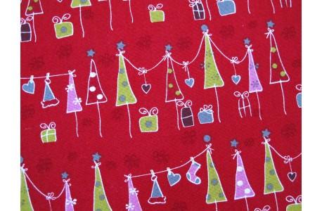 Stoff Weihnachtsbaum rot