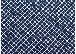 Baumwollstoff dunkelblau weiß Karostoff