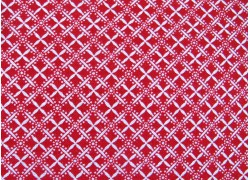 Ornamentstoff rot Scarlet Stitches Quiltstoff